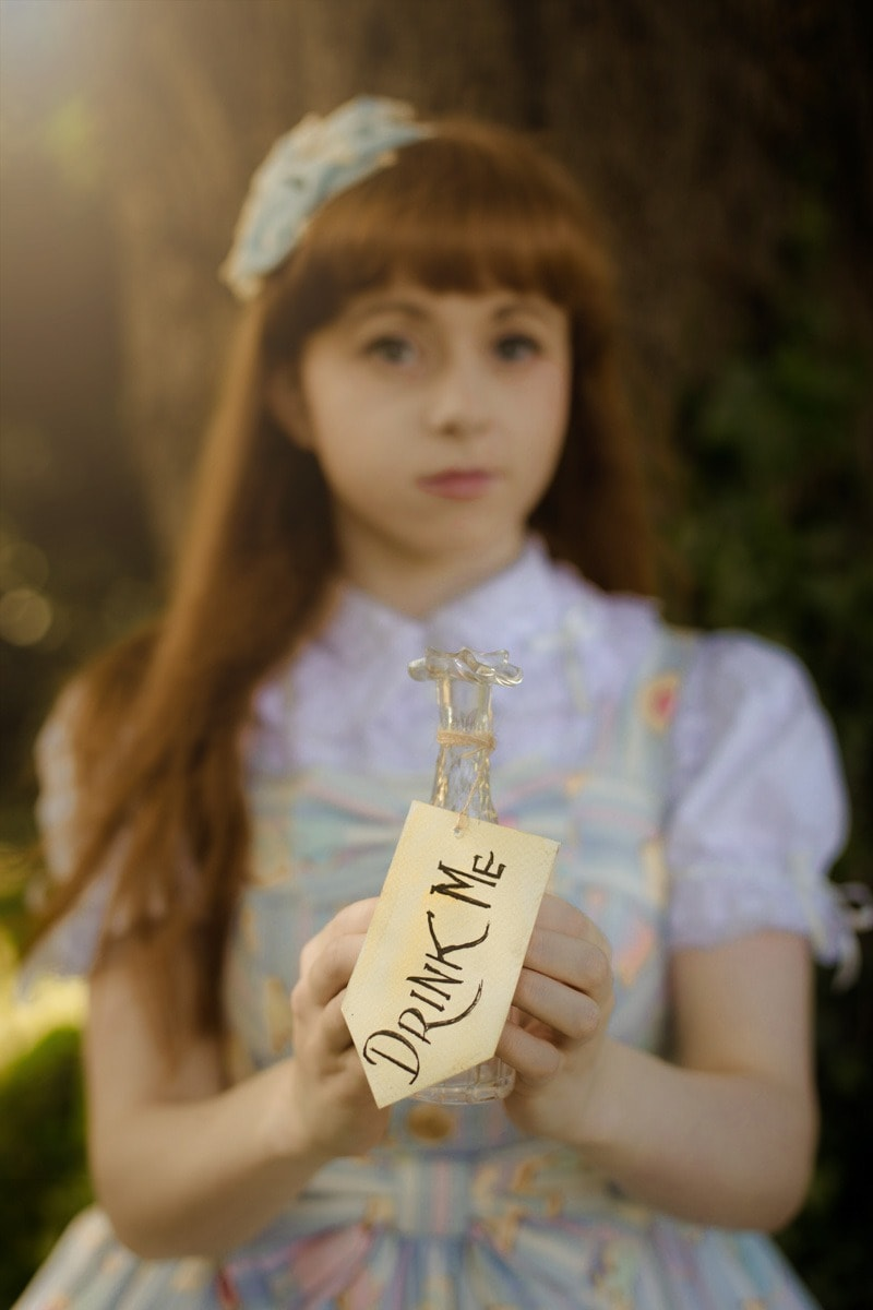 drink me bottle alice in wonderland