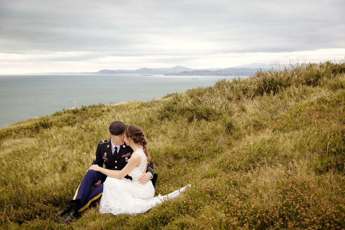 Intimate wedding on Howth cliffs