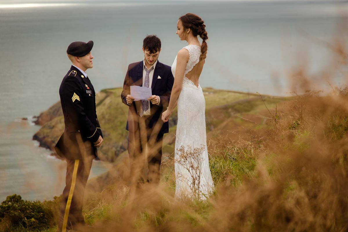 Intimate wedding ceremony Ireland photographer