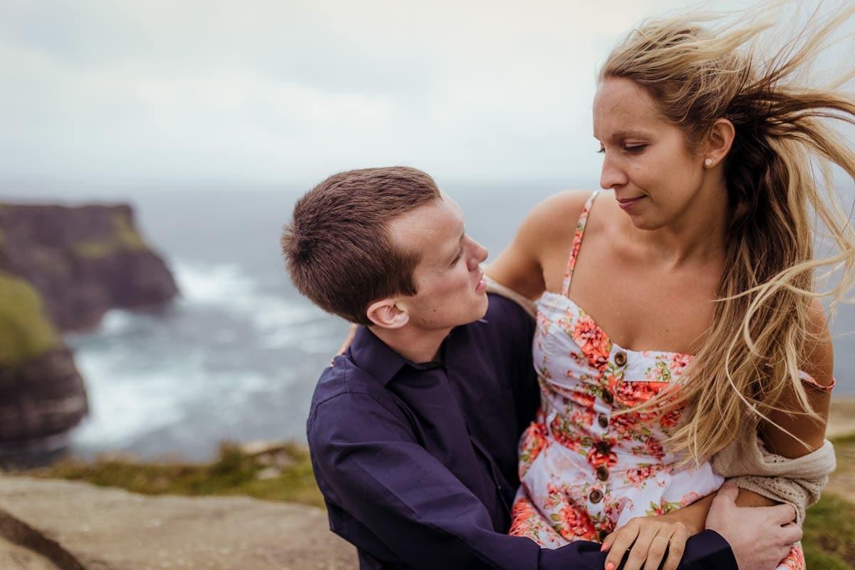 pre wedding photo shoot at cliffs of moher ireland