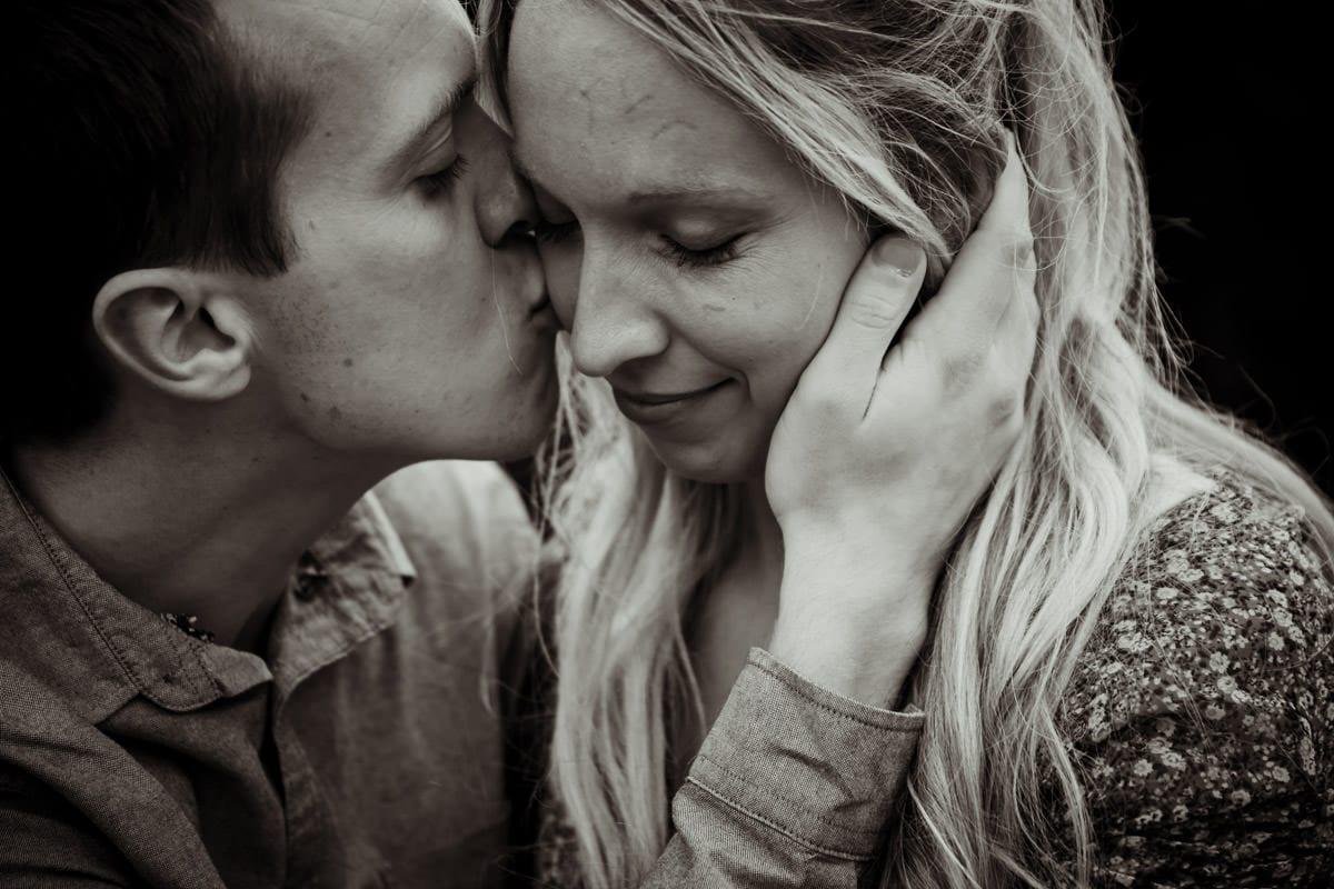 affectionate kiss