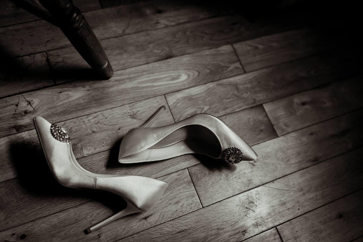 Wedding shoes, wedding details, documentary wedding photographer in Ireland