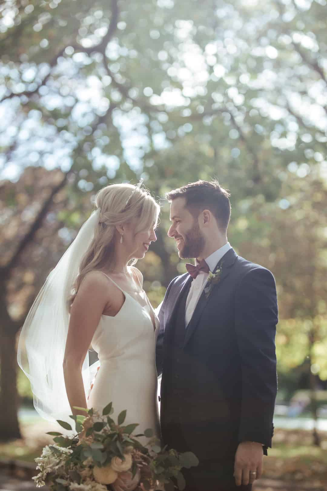 dublin wedding in st stephen's green sunlit photo