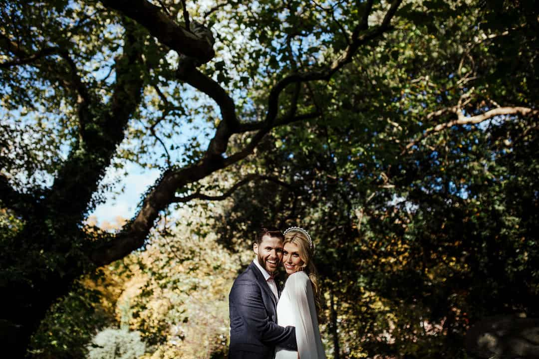 autumn wedding in dublin city st stephen's green