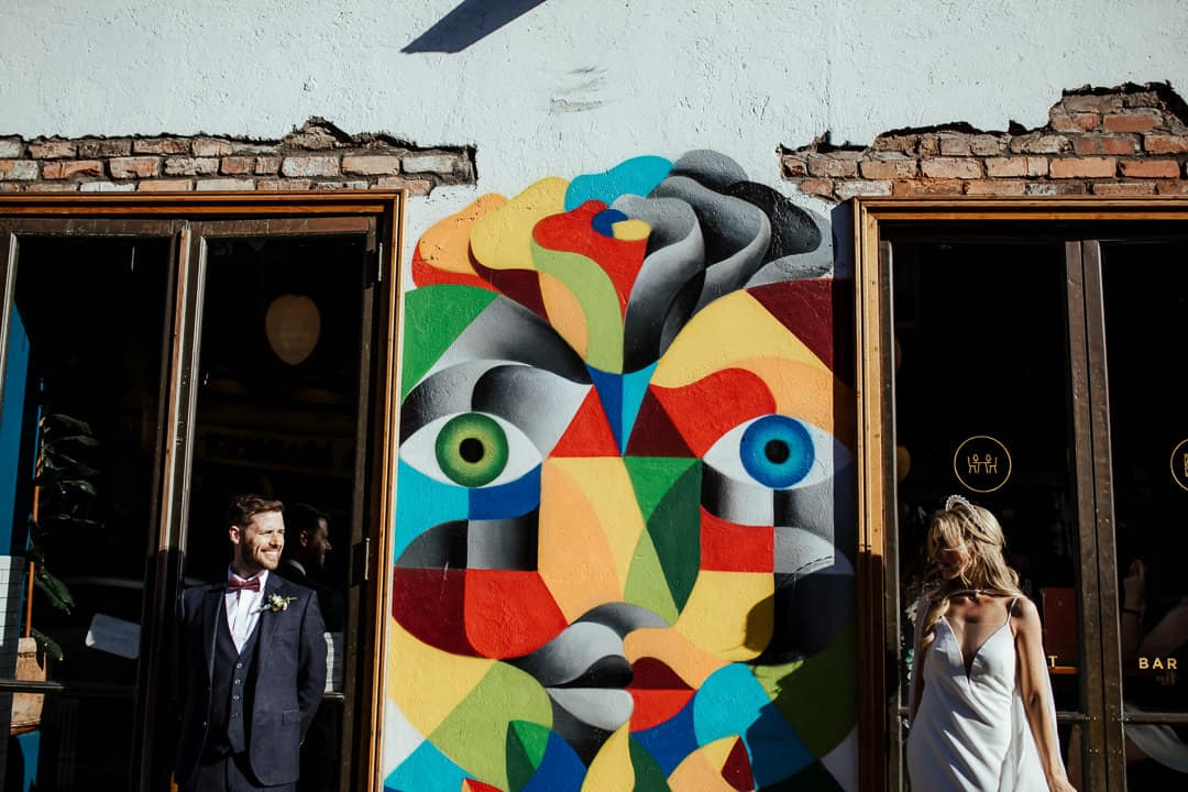 dublin graffiti wedding photo