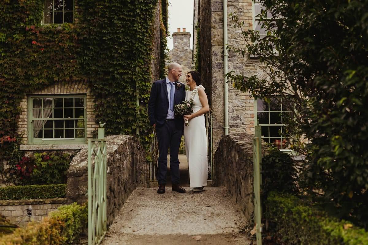 intimate photo of couple on a bridge village at lyons