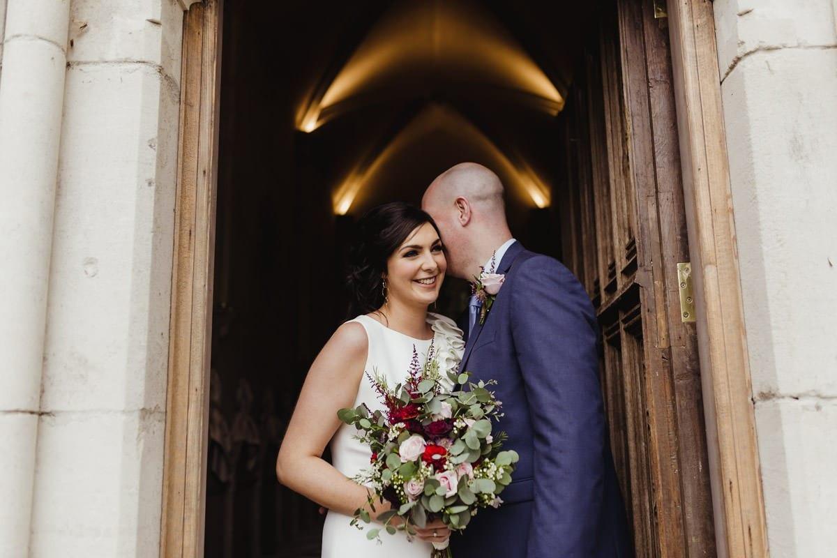 candid photo of a wedding couple documentary wedding photographer ireland