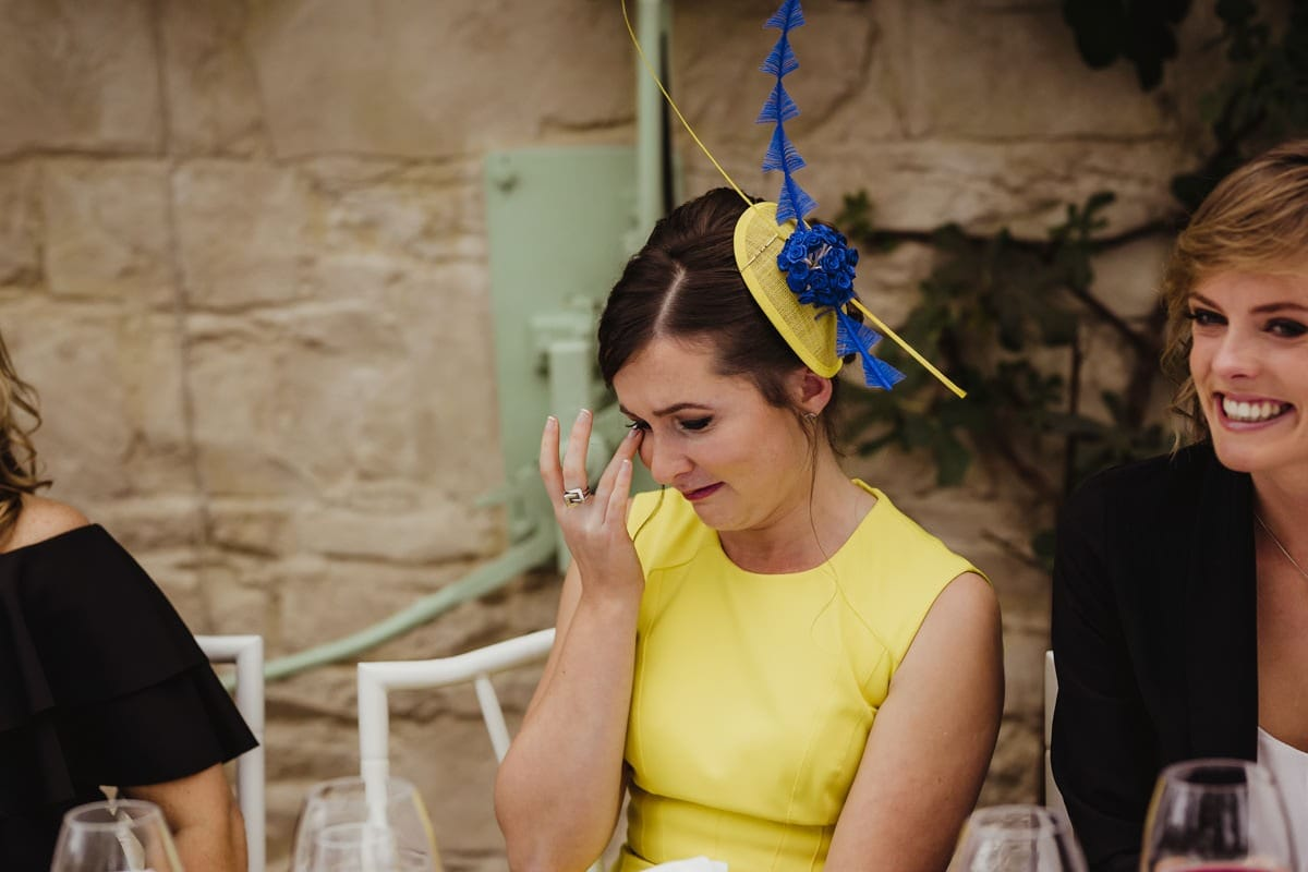 guests crying during wedding speeches candid wedding photographer dublin