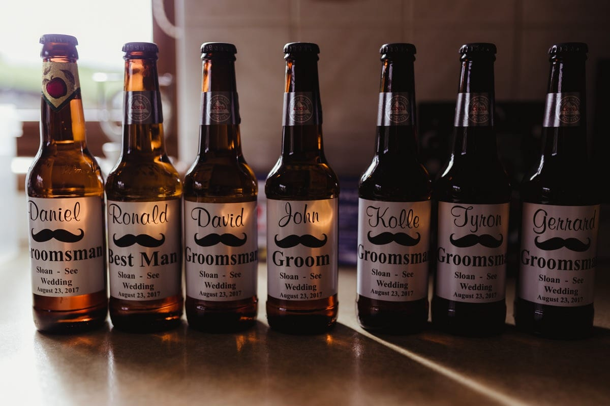Wedding day ideas, personalized beer bottles for groomsmen, best man gift ideas
