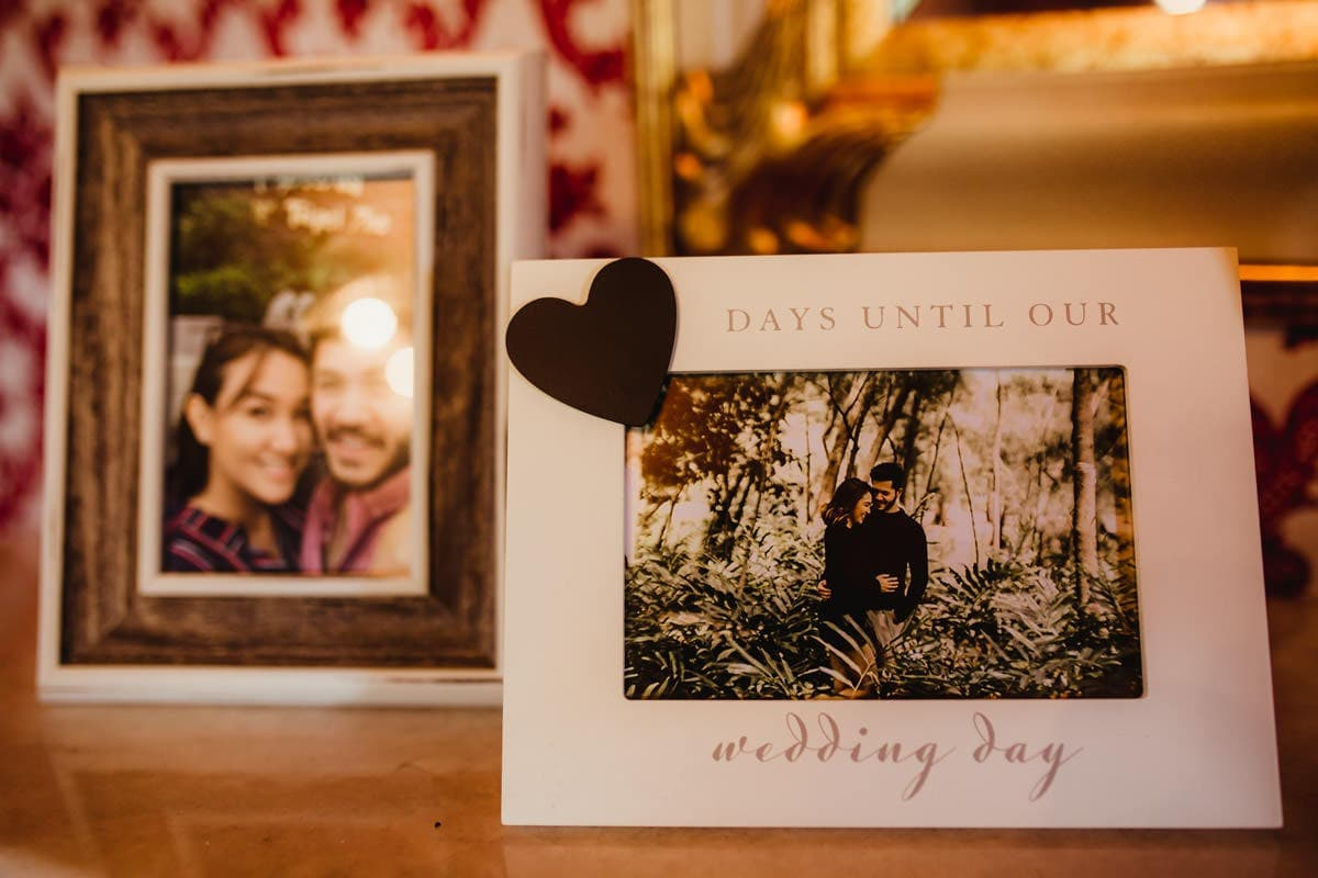 Days until our wedding day frame, wedding day decor ideas