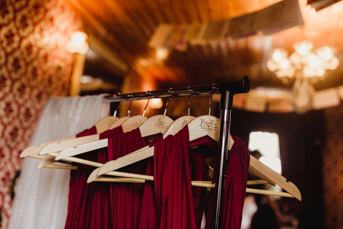 Wedding details, personalized dress hangers for bridesmaids