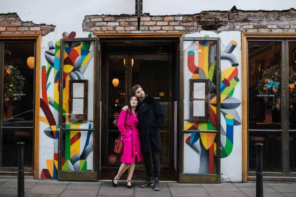 Engagement session in Dublin ctiy centre