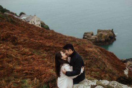 Engagement shoot at Howth cliffs, Dublin