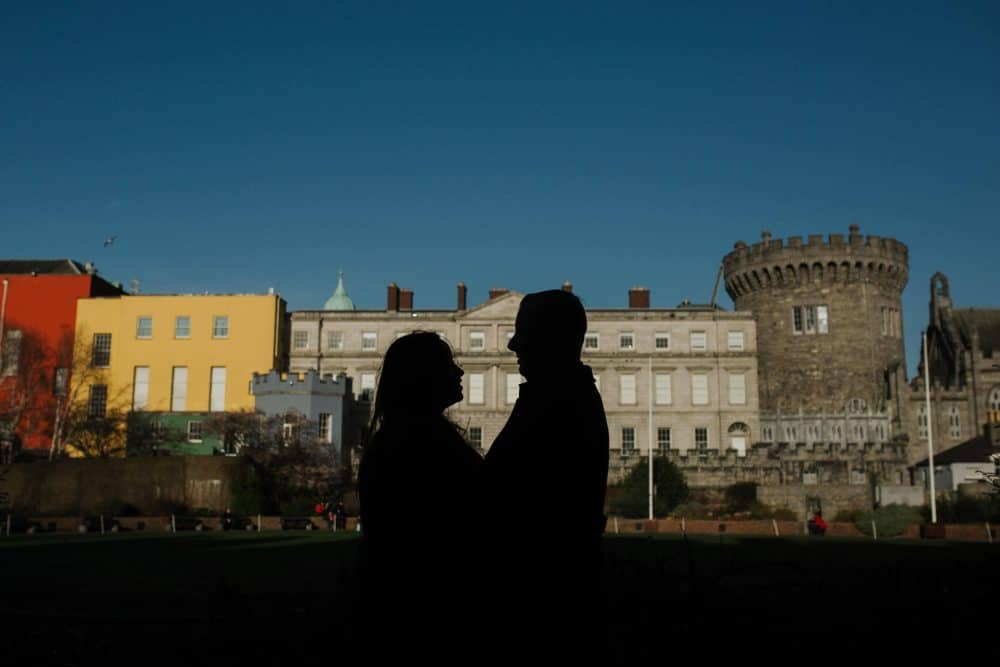 Engagement shoot in Dublin castle