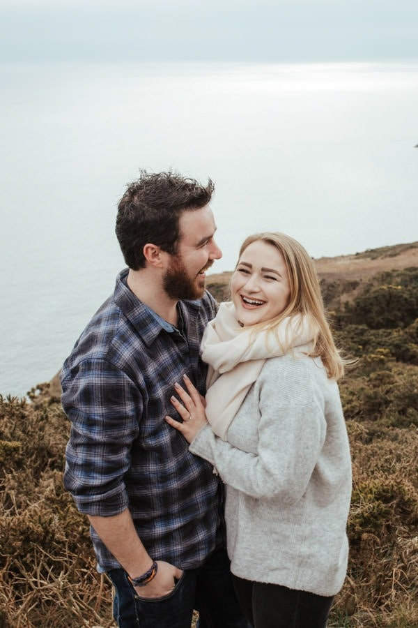 engagement shoot in dublin howth cliffs