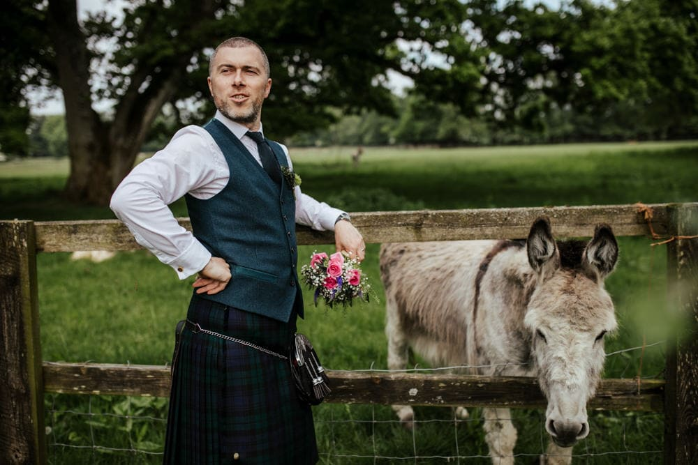 groom and donkey country house wedding venue ireland