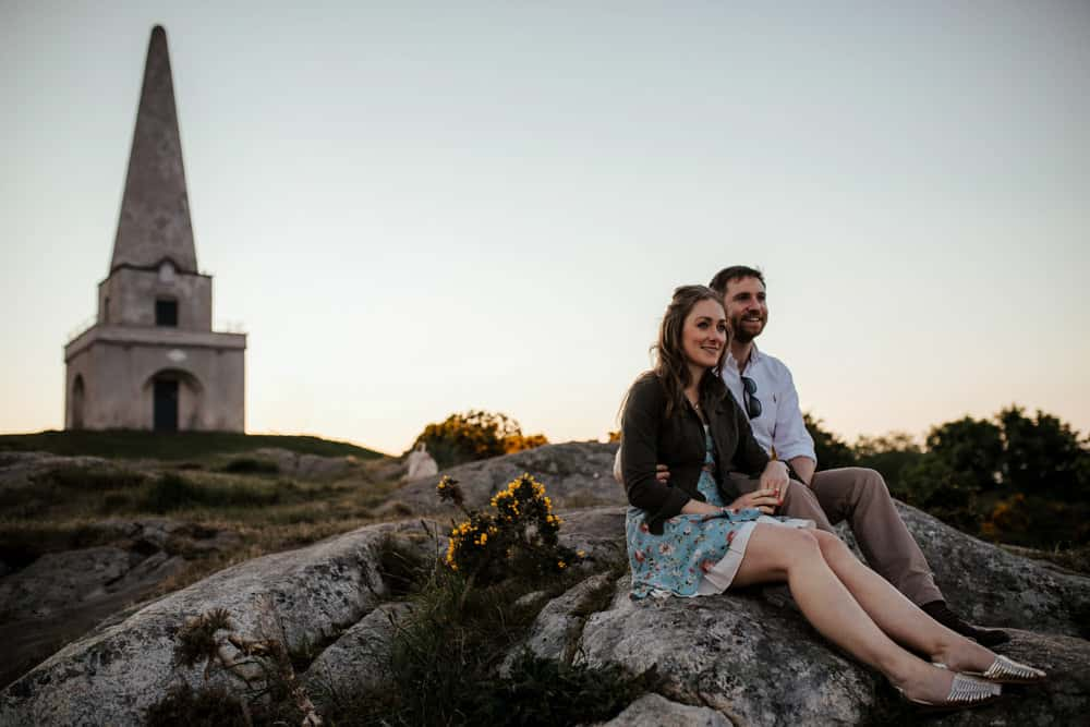 engagement session in killiney view over dublin