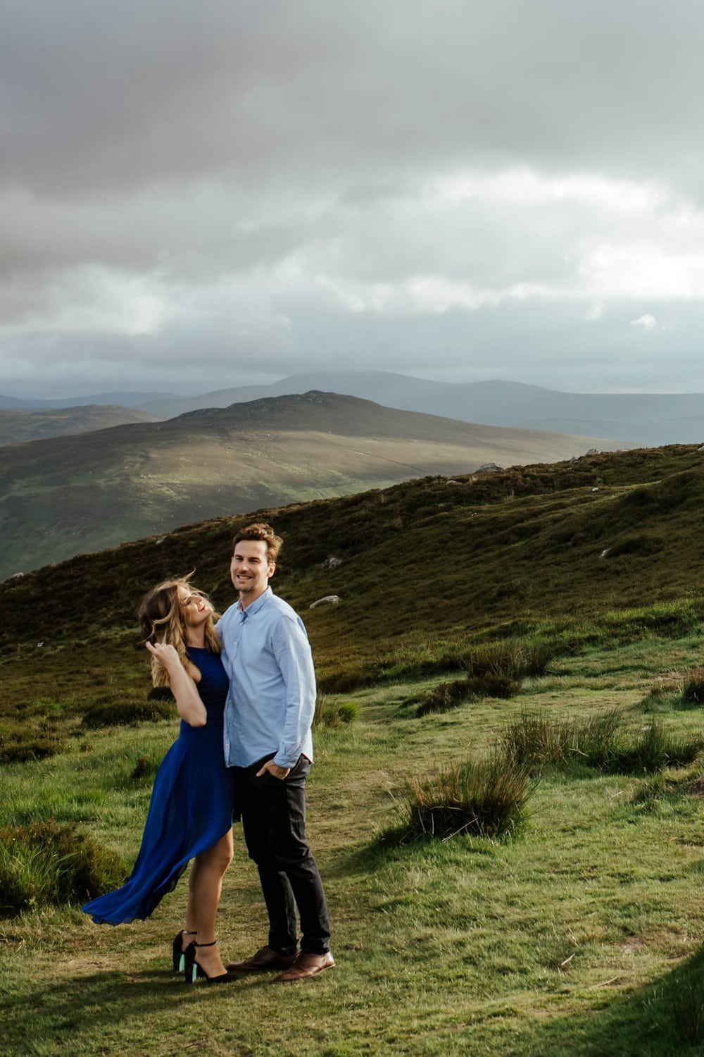 engagement session in wicklow at sunset