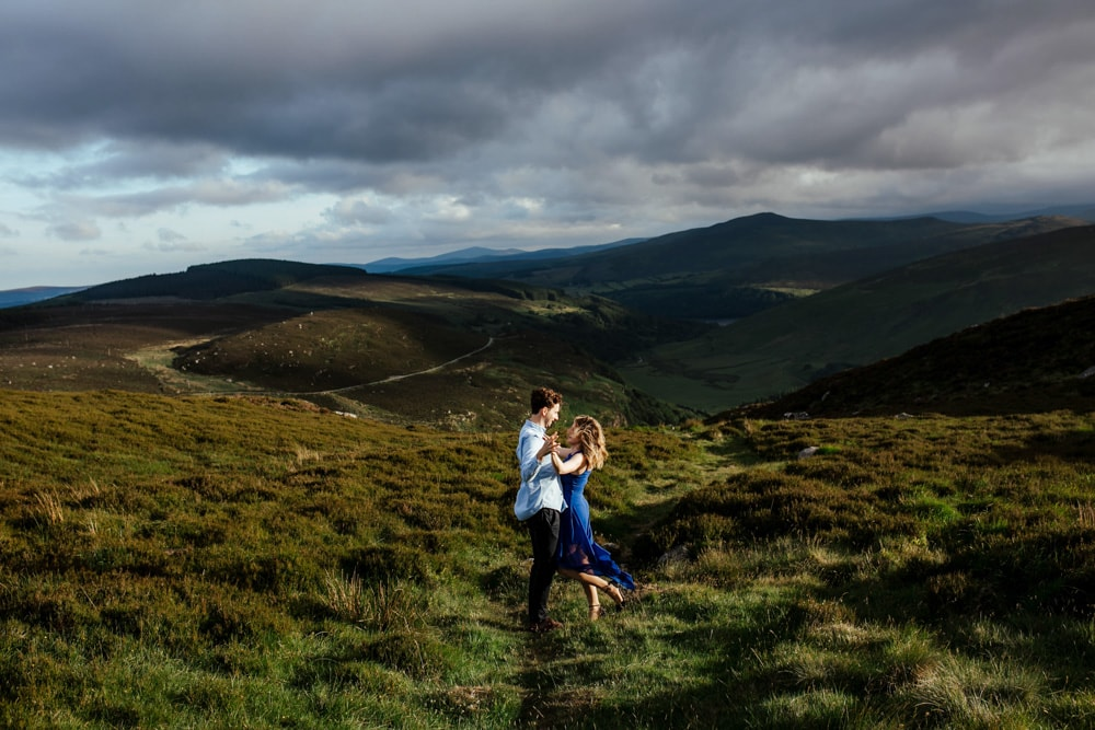 sunset in Sally Gap, engagement session wicklow