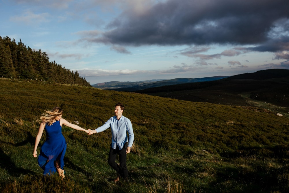 Sunset couple photo in Sally Gap Lough Tay