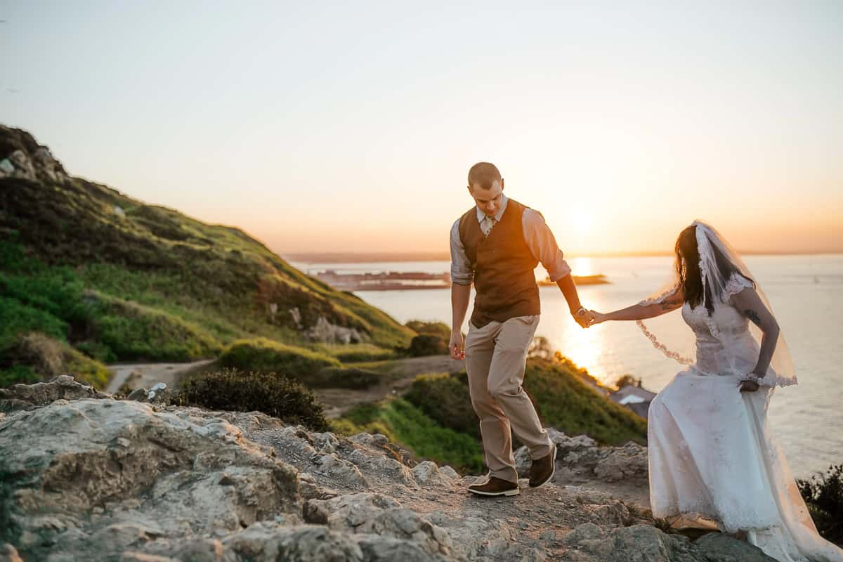 vow renewal in ireland howth sunset photoshoot