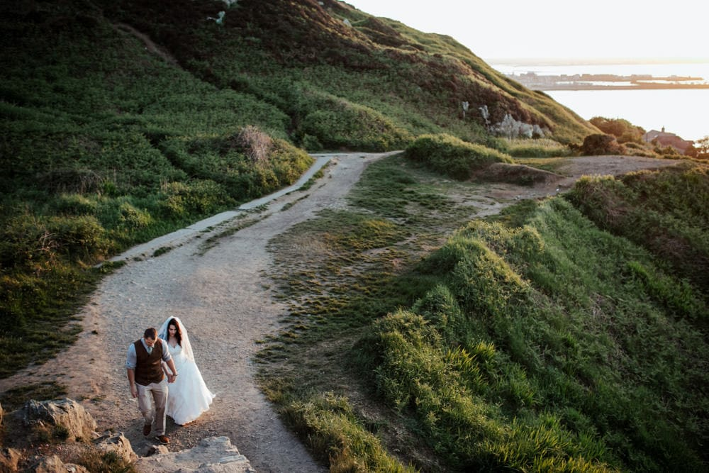 elopement in ireland bride and groom in howth dublin