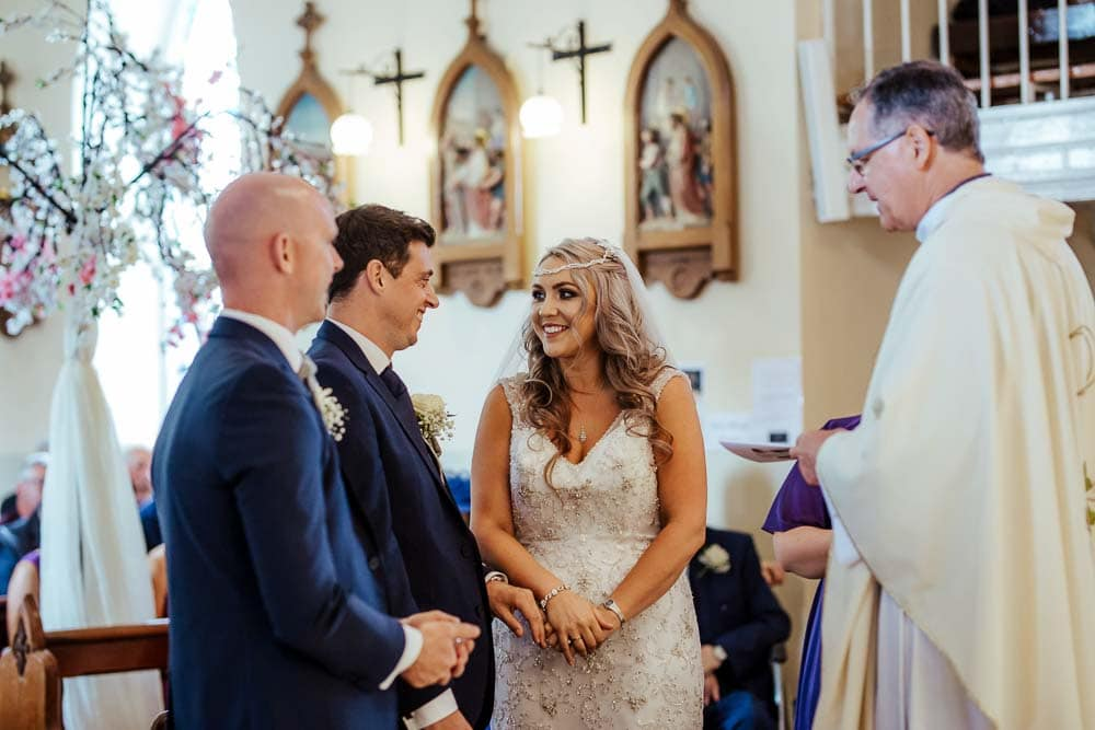 bride and groom church wedding ceremony waterford ireland