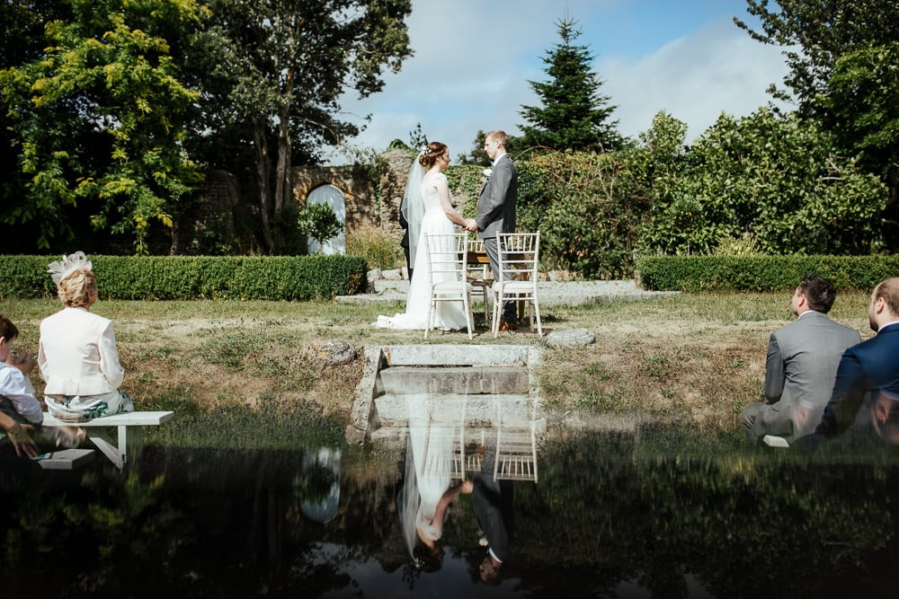 outdoor wedding ceremony at horetown house wexford ireland