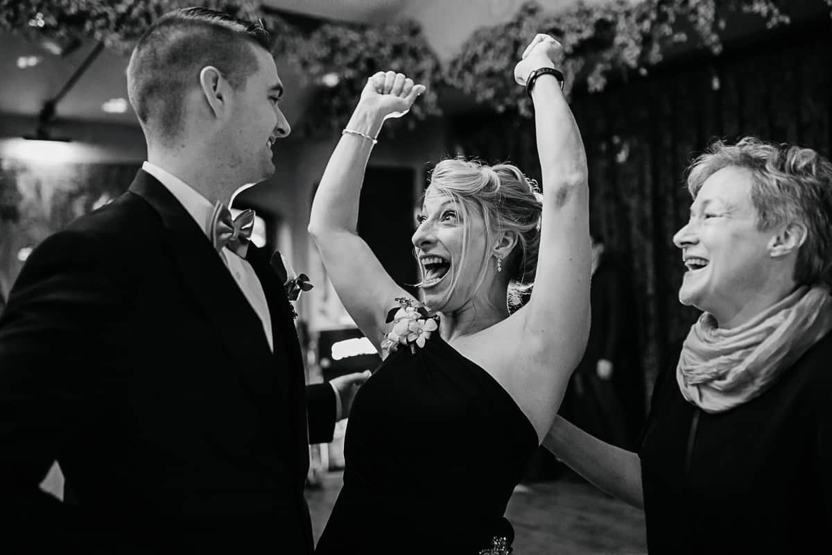 happy mother of the bride