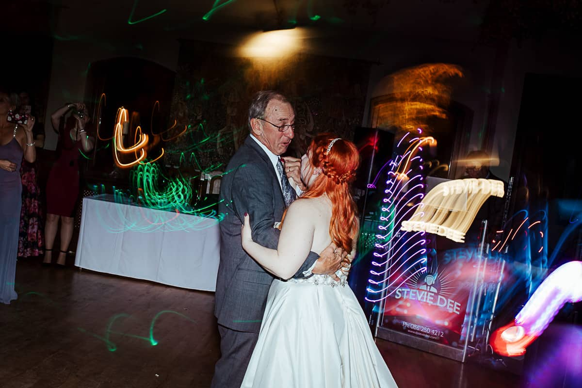 grandfather and granddauther wedding dance