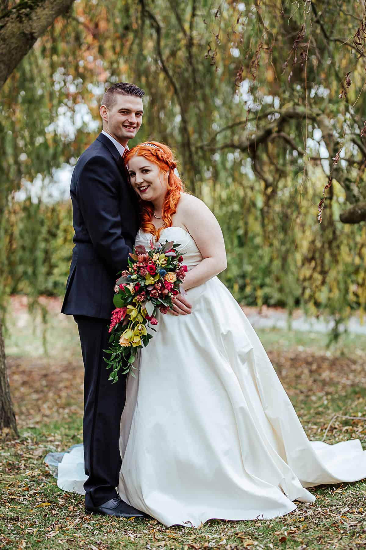 barberstown castle wedding portrait of bride and groom
