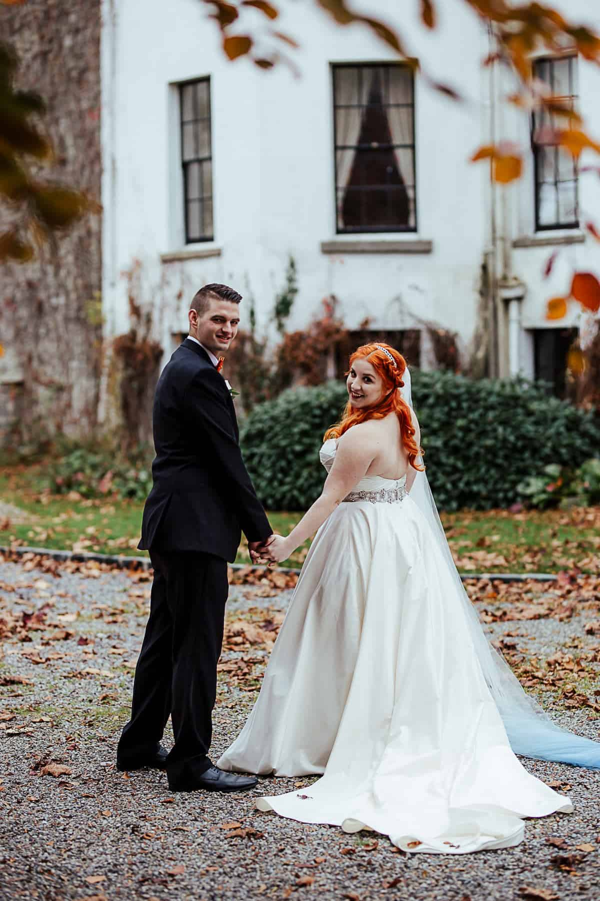 fall destination wedding in ireland barberstown castle wedding