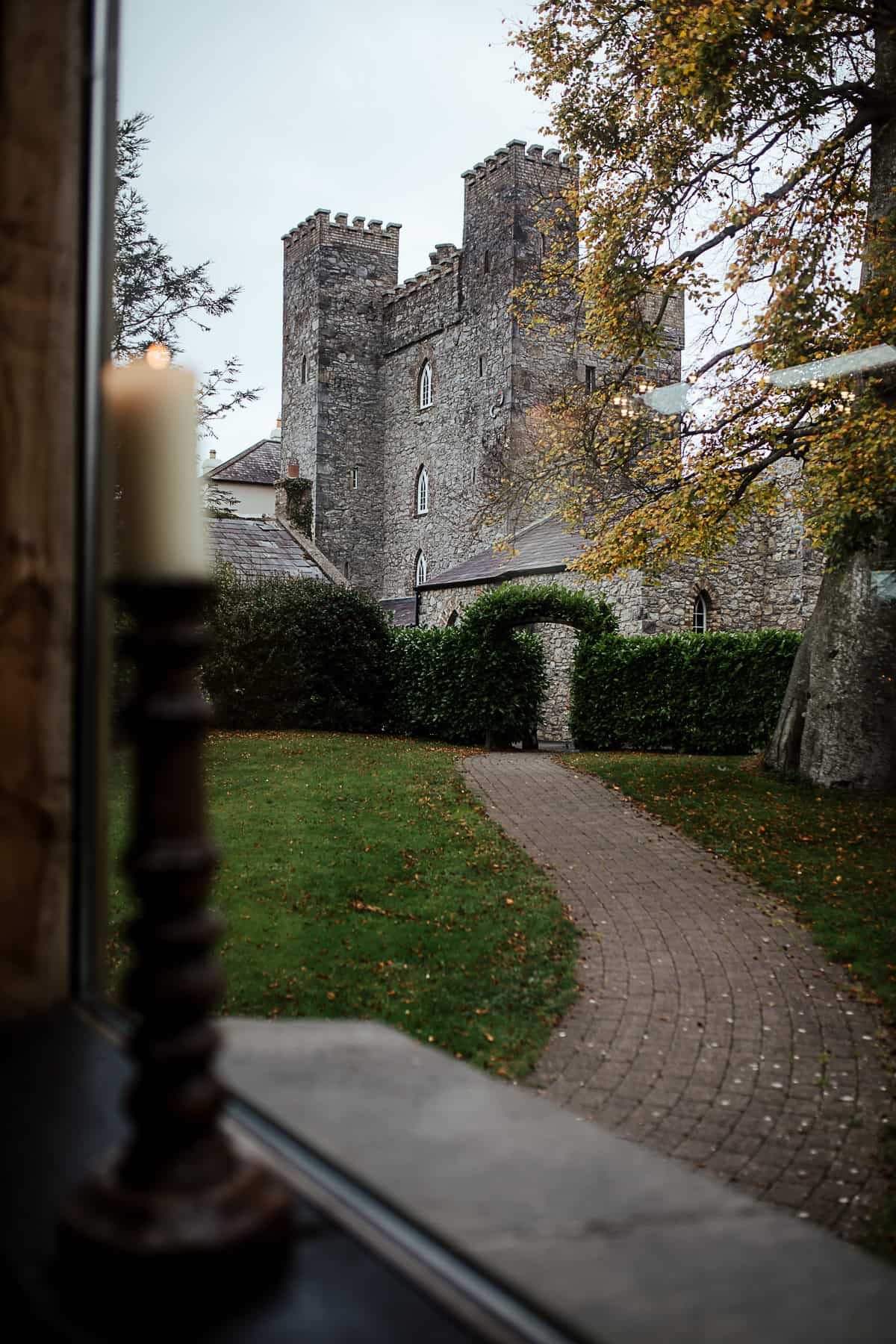 barberstown castle in autumn fall