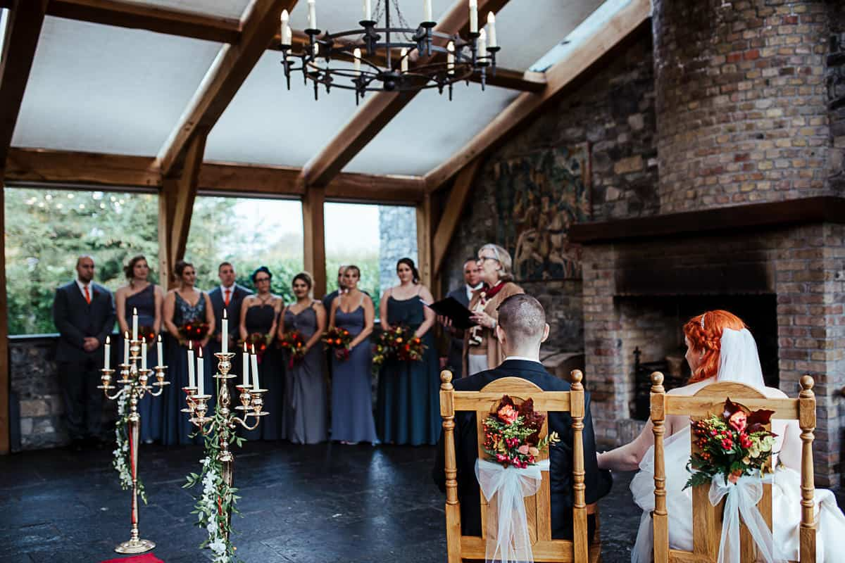 civil ceremony at barberstown castle wedding