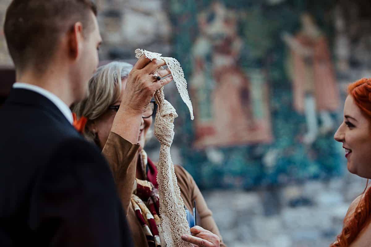 tying the knot handfasting wedding ceremony ireland