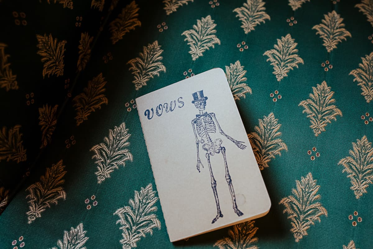 corpse bride wedding vows notebook for groom