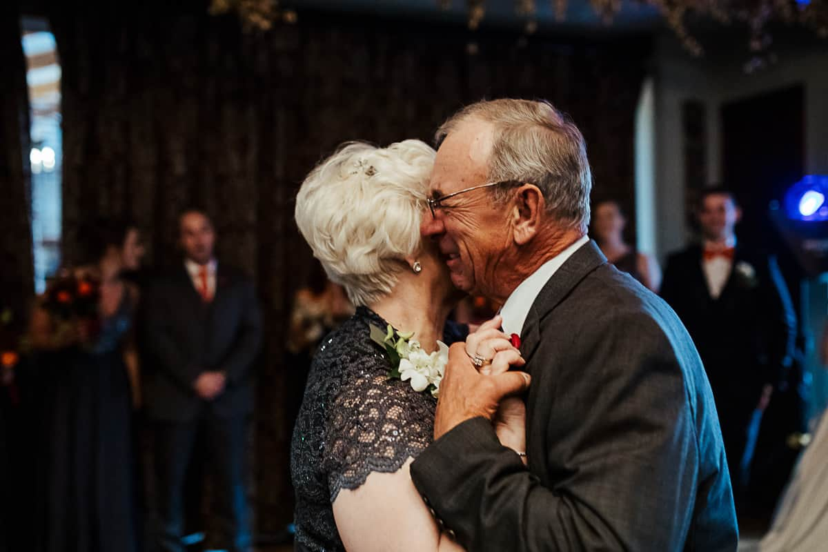 50th wedding anniversary first dance at granddauther's wedding