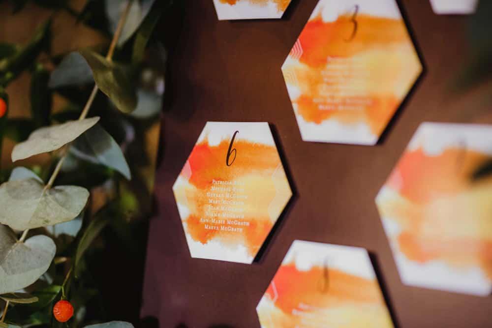 honeycomb theme wedding seating plan hexagonal shapes