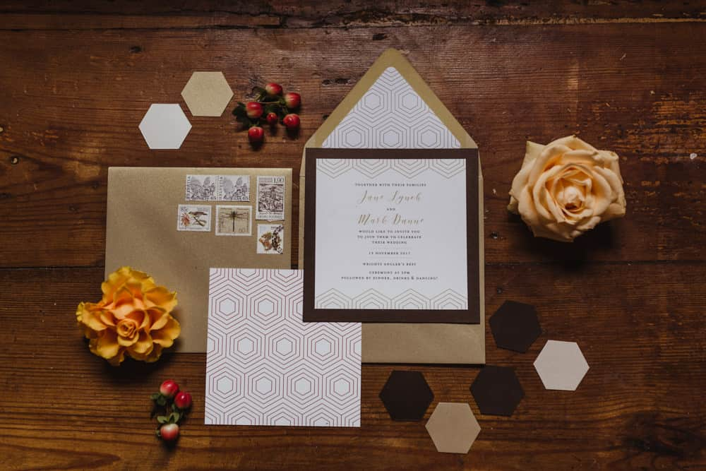 chocolate wedding theme stationery fall wedding ideas