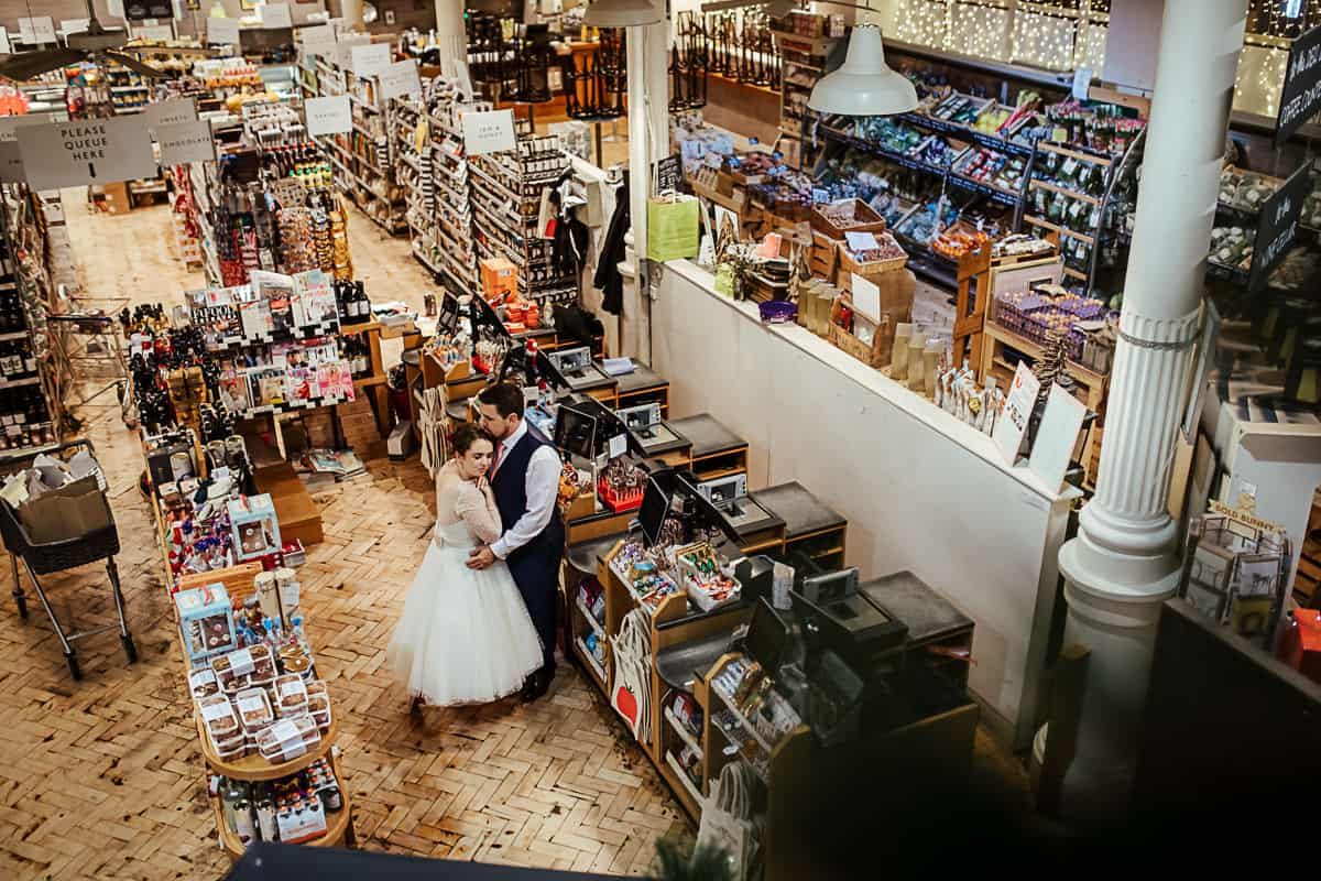 fallon and byrne wedding supermarket photo