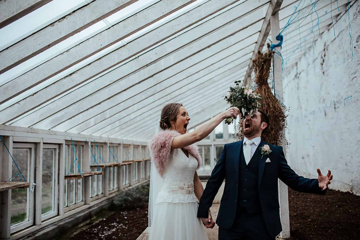 ashley park house wedding greenhouse photo