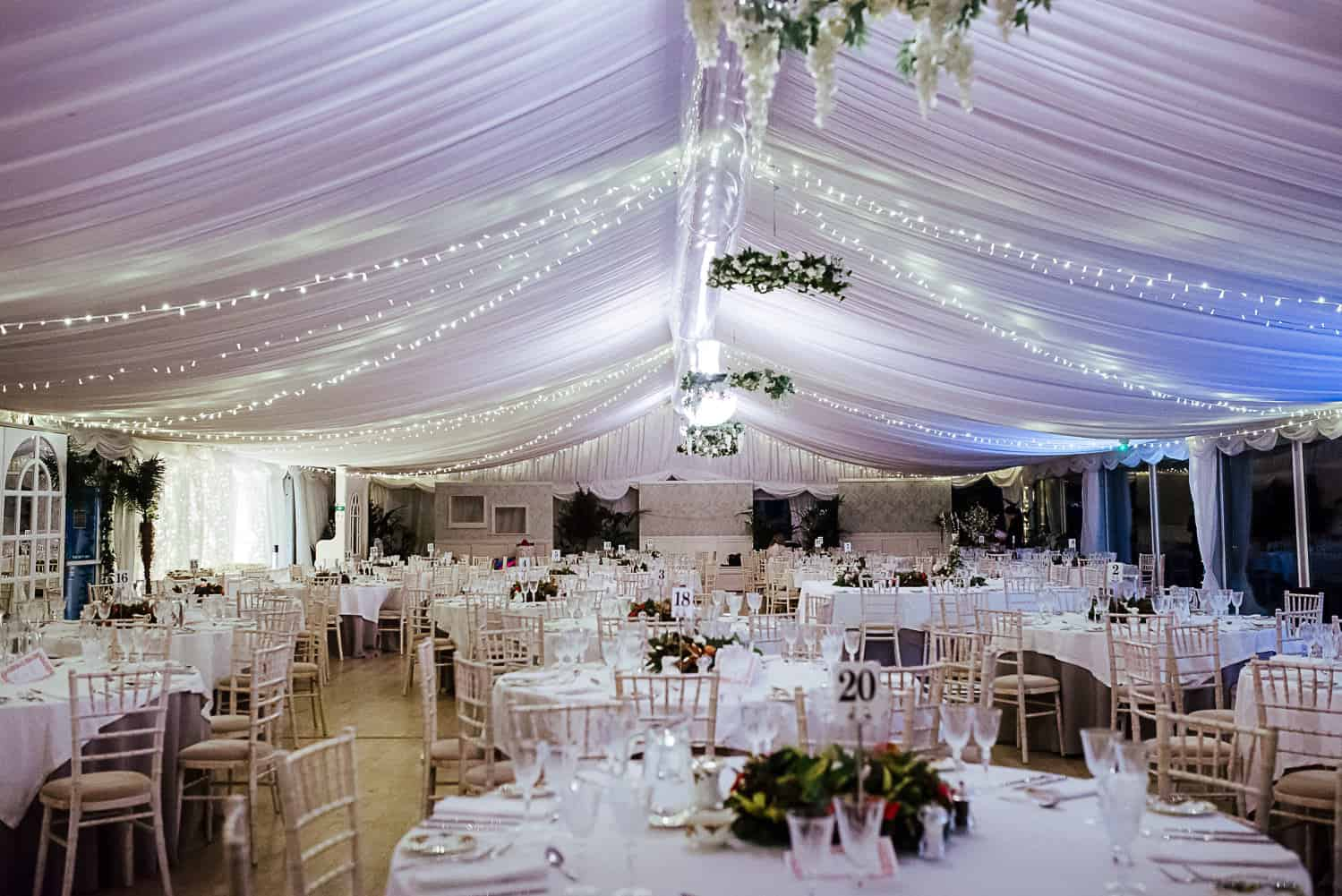 wedding marquee at ashley park house