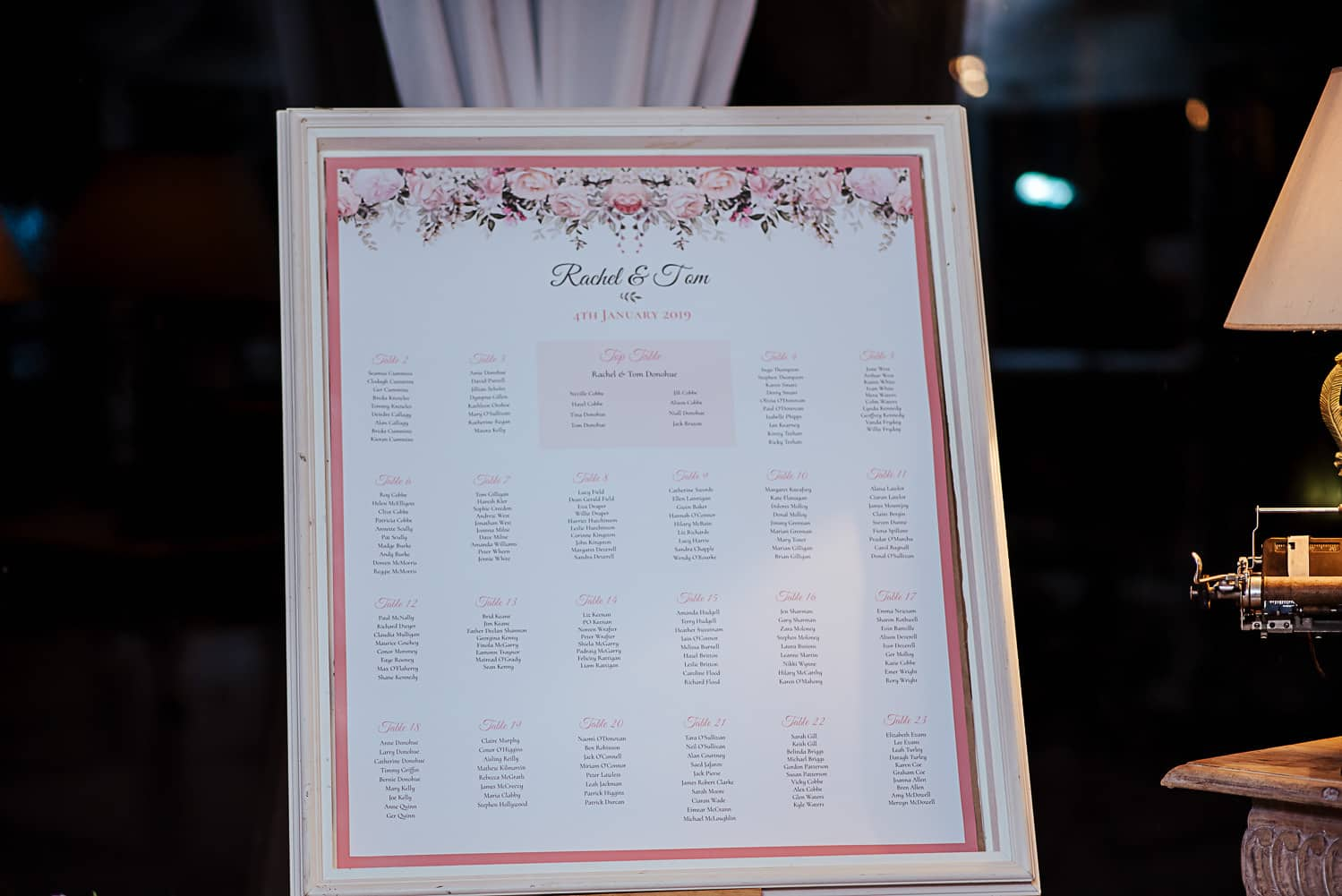 table seating plan ashley park house wedding