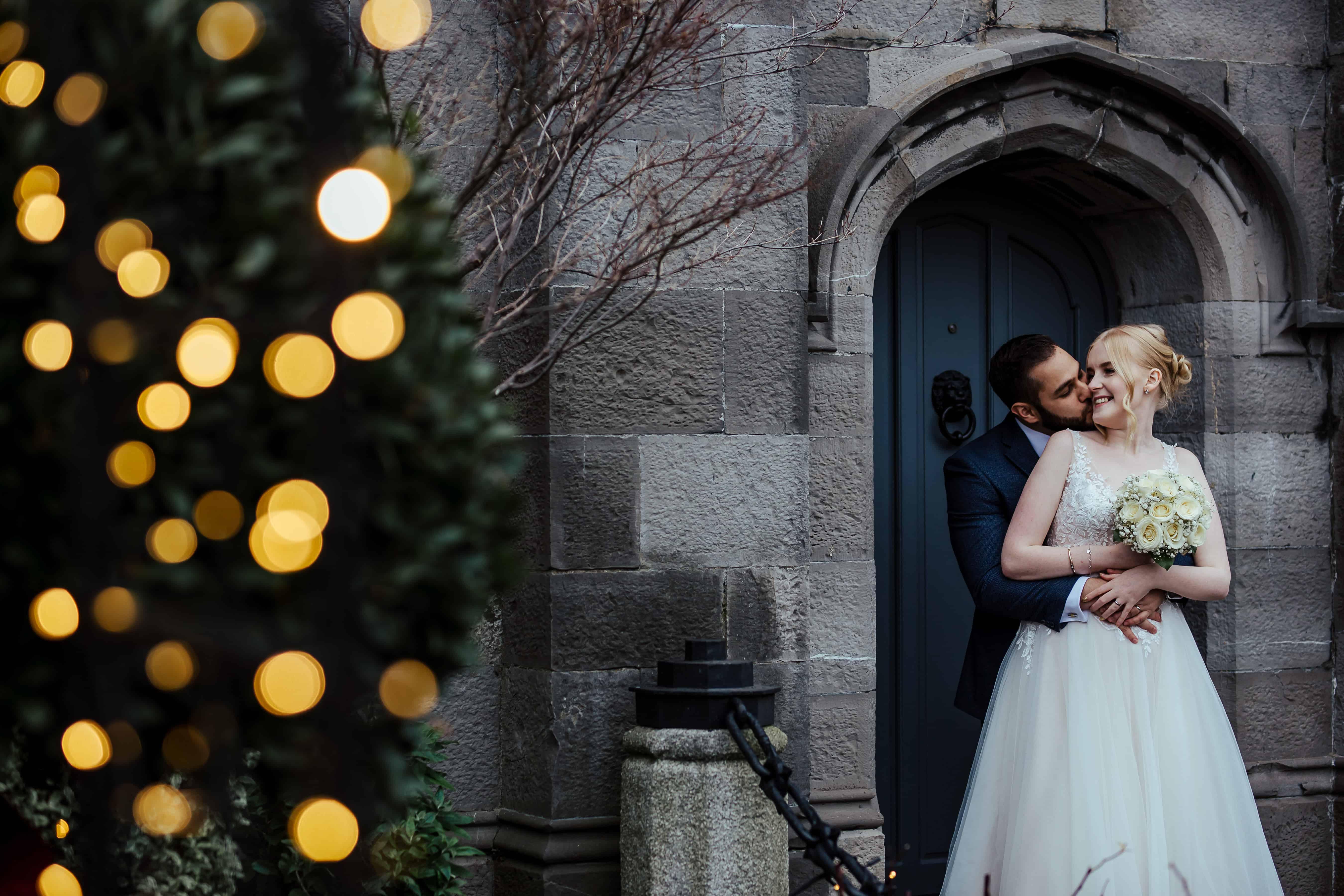 winter wedding at clontarf castle