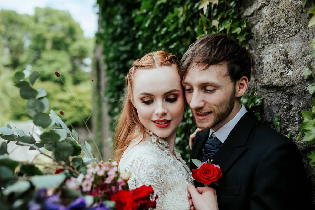 wedding couple at loughcrew house