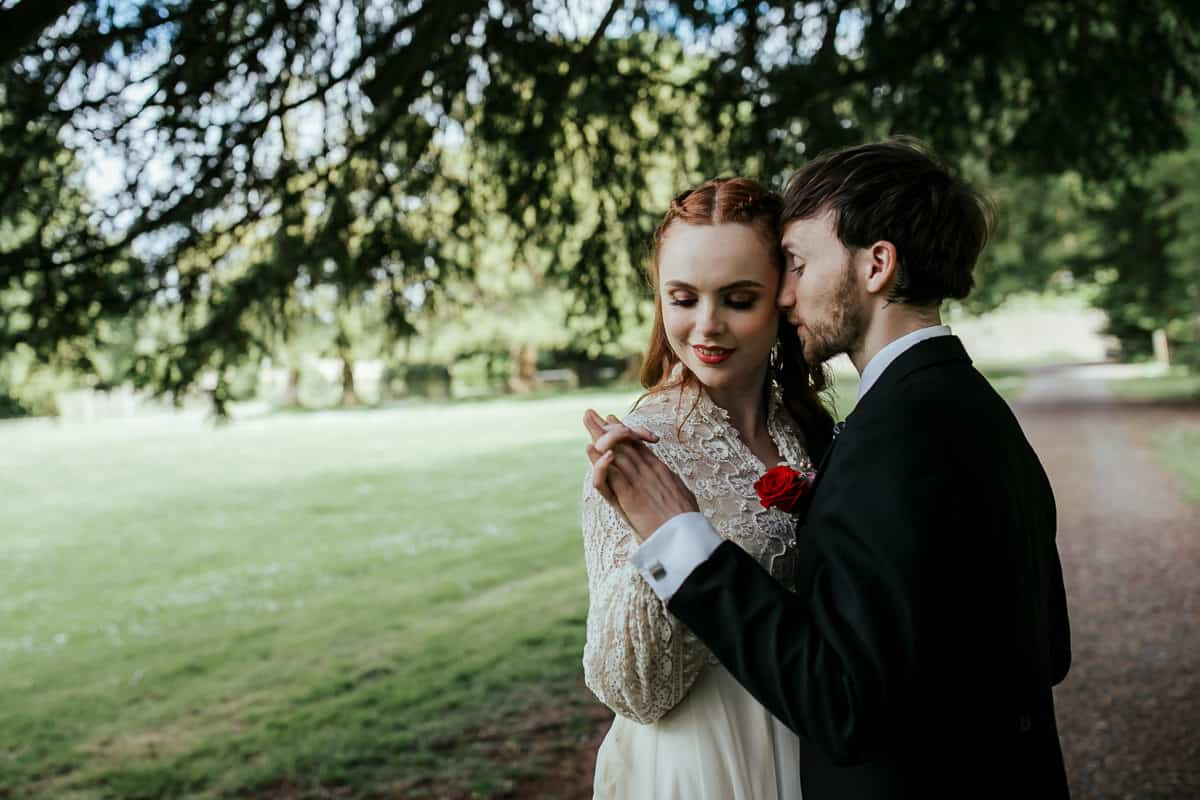 wedding portraits at loughcrew house