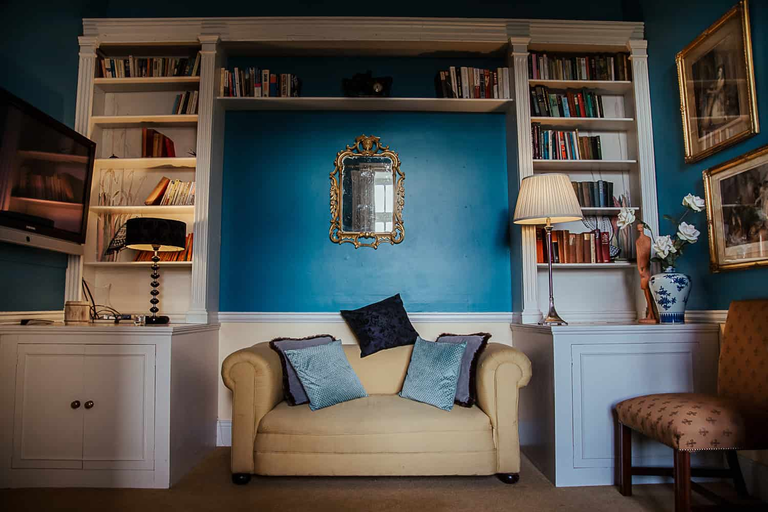 loughchrew house wedding venue blue library room