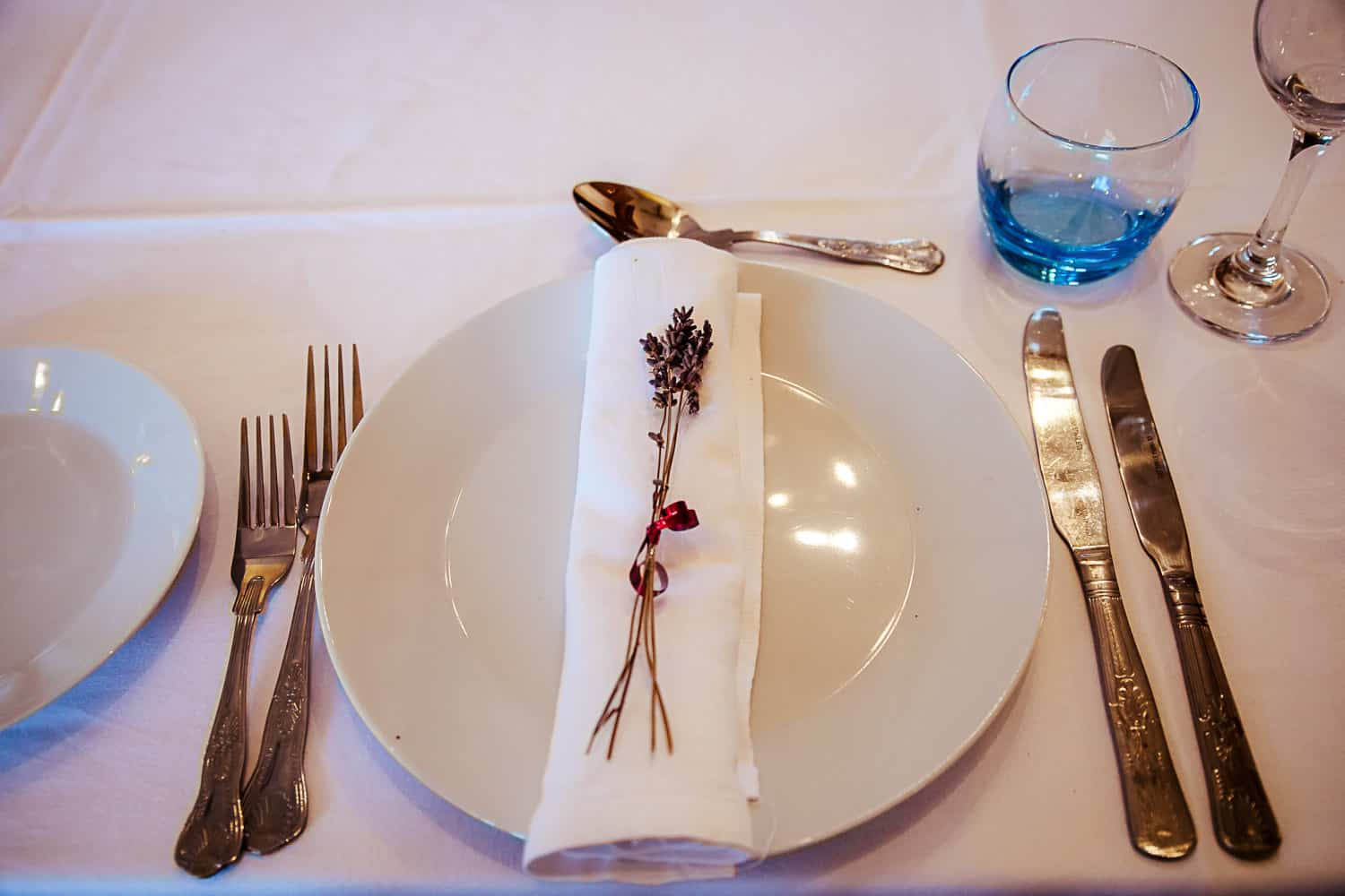 loughchrew house wedding table place setting