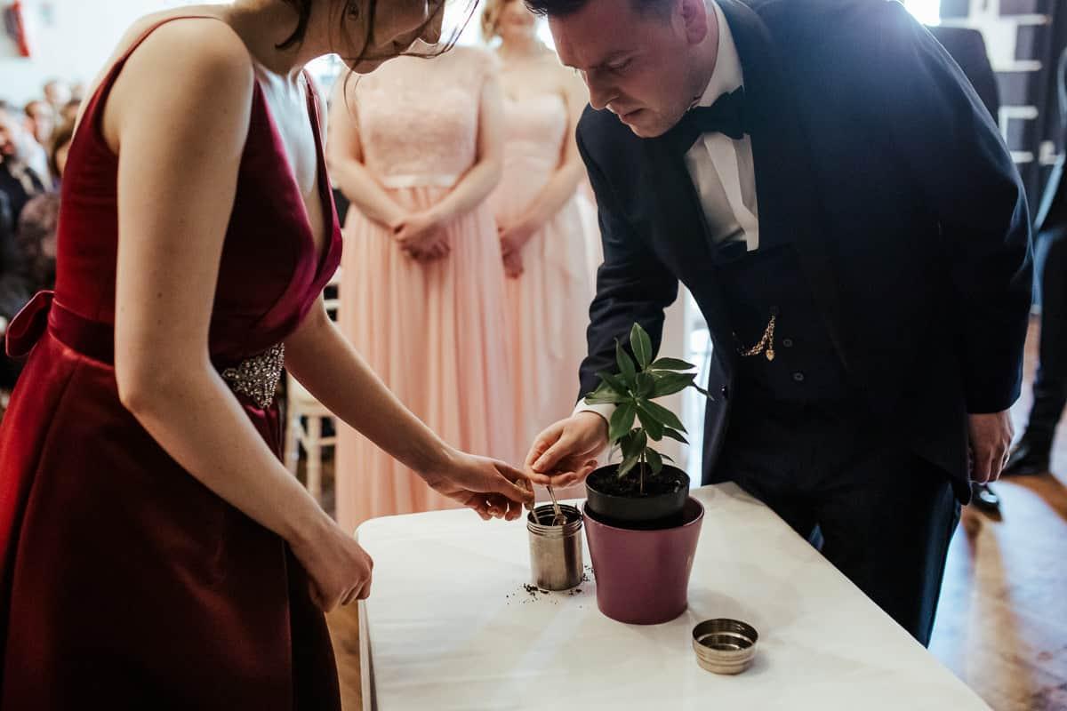 tree planting ceremony kinnity castle wedding