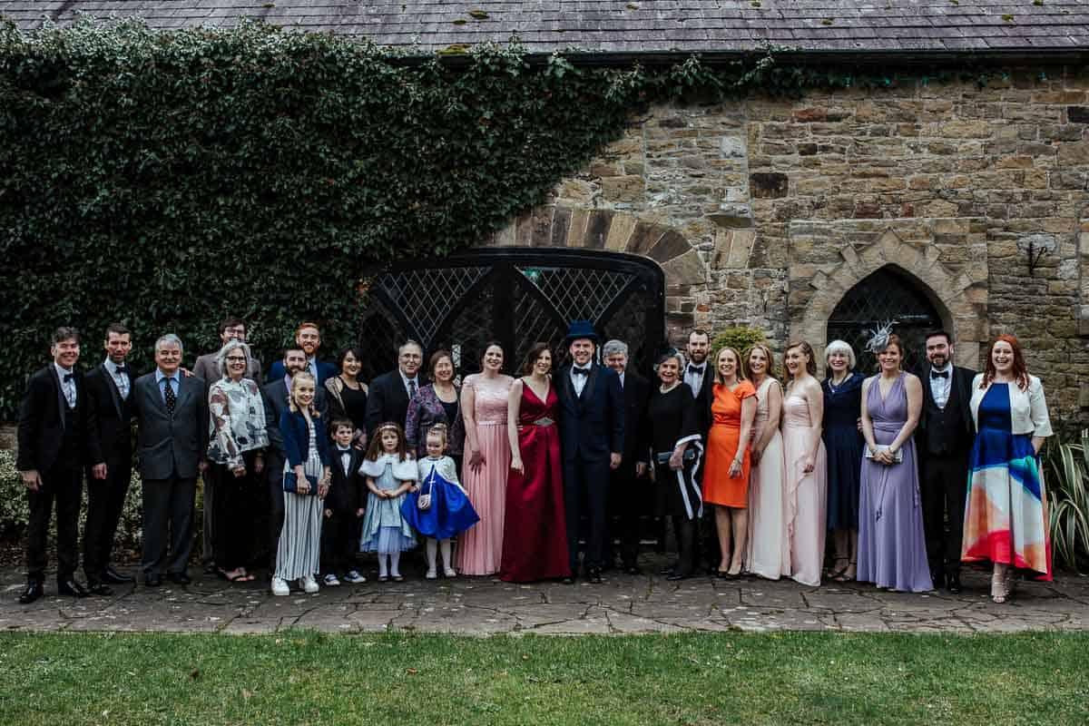 family photos at kinnity castle wedding